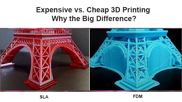 So sánh in 3D SLA và FDM