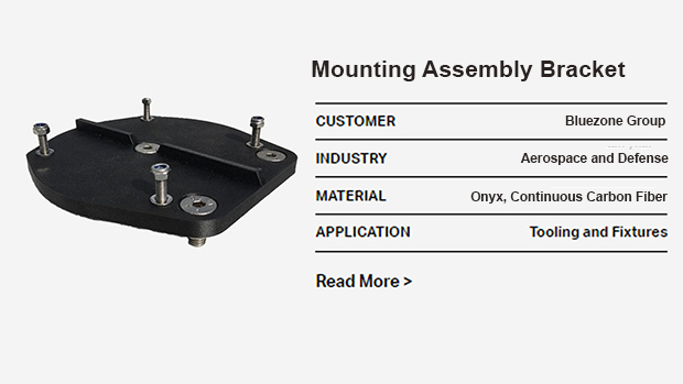 Markforged 3D Printed Mounting Assembly Bracket-markforged